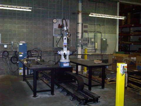 Rail de robot, robot soudeur, OTC Daihen